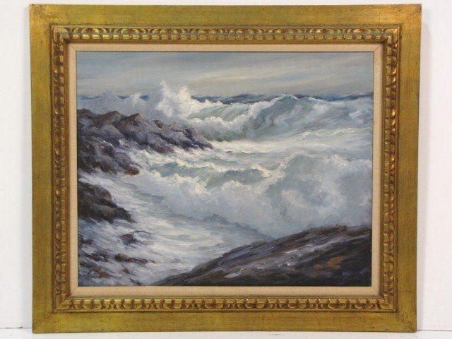 8: EDWARD GARBELY SEASCAPE PAINTING