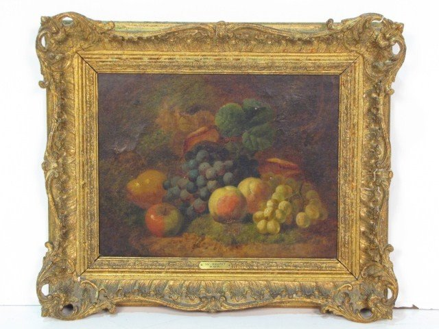 19: W. HUNT STILL LIFE OIL PAINTING