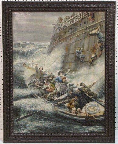 2: ANTONIO ABELLEYRA PAINTING of a SEA RESCUE