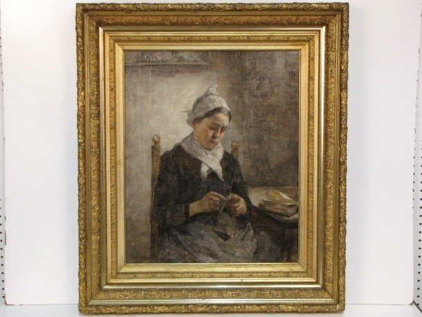 4: FREDERICK C. GOTTWALD PAINTING of a DUTCH GIRL