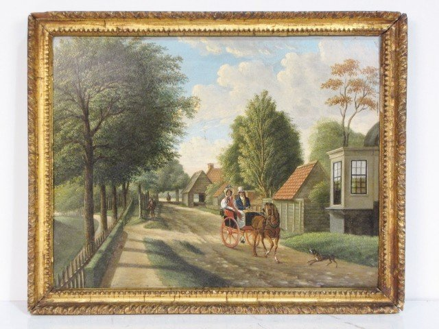 7: ANTIQUE ENGLISH OIL PAINTING