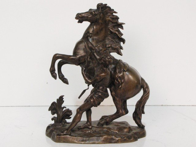 17: BRONZE of a HORSE & FIGURE after COUSTOU