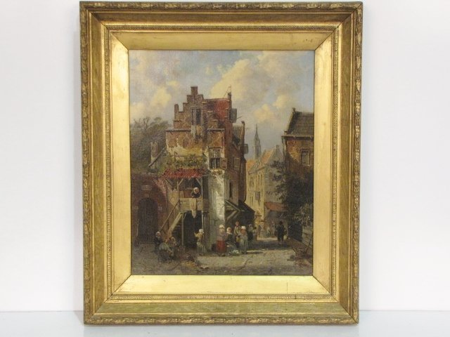 1: attributed PIETER GERARDUS VERTIN DUTCH OIL PAINTING