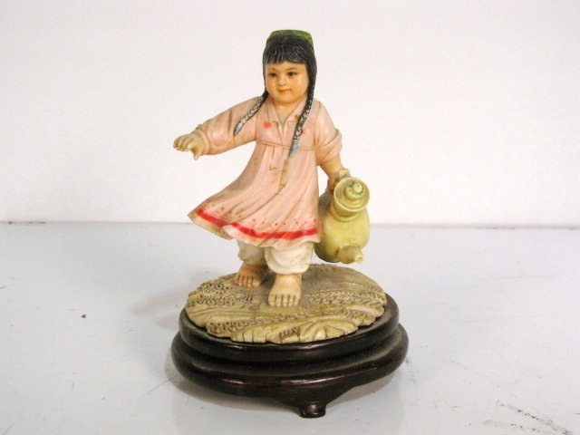 "191: 3 3/4"" CHINESE CULTURAL REVOLUTION CARVED IVORY GI"