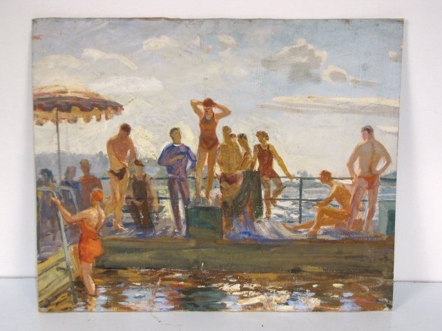 15: RUSSIAN PAINTING OF BATHERS