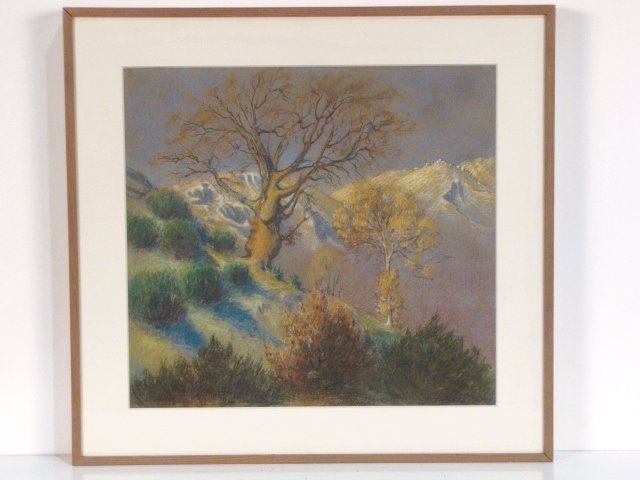 5: WILLIAM SAMUEL HORTON PASTEL LANDSCAPE w/ TREES