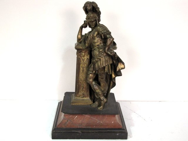 """21"""" FRENCH BRONZE of a CENTURION"""