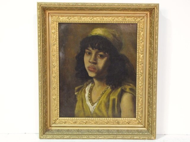 W. HENRY PORTRAIT PAINTING of a PERSIAN GIRL