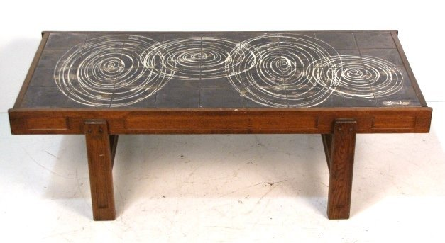 J. BELARTI TILE TOP COFFEE TABLE