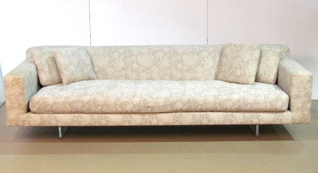 VLADIMIR KAGAN LUCITE BASE SOFA
