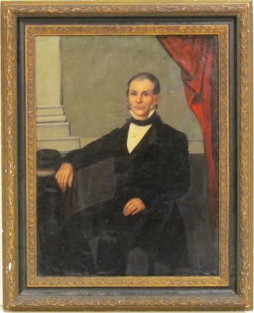 19th c. PORTRAIT PAINTING of a GENTLEMAN