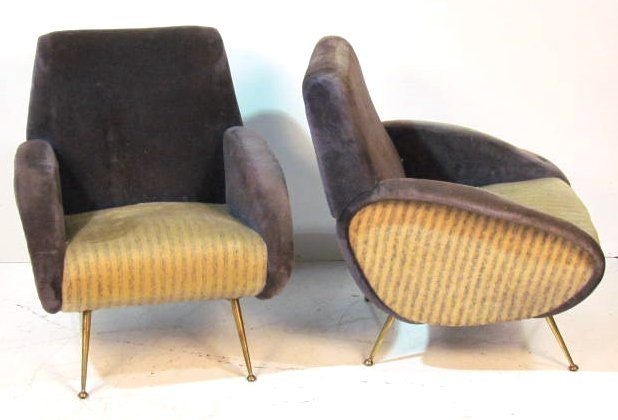 Pair MODERN DESIGN LOUNGE CHAIRS