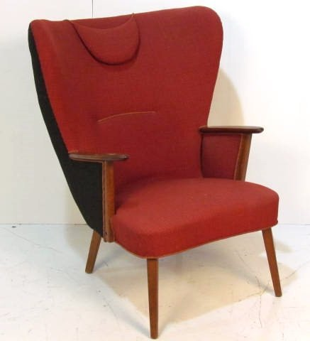 HANS WEGNER STYLE DANISH WING CHAIR