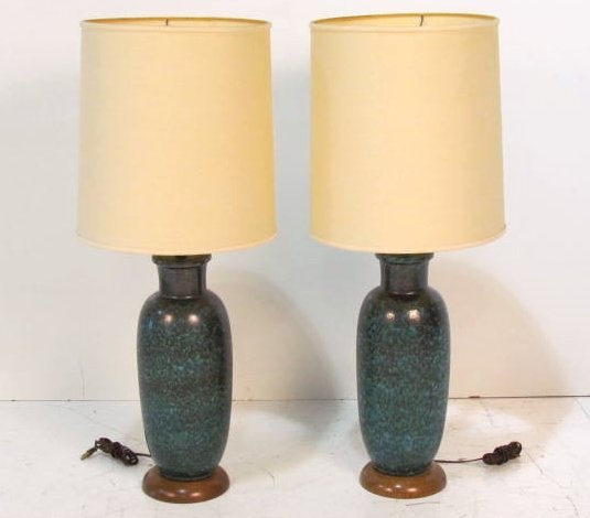 Pair MODERN CERAMIC TABLE LAMPS