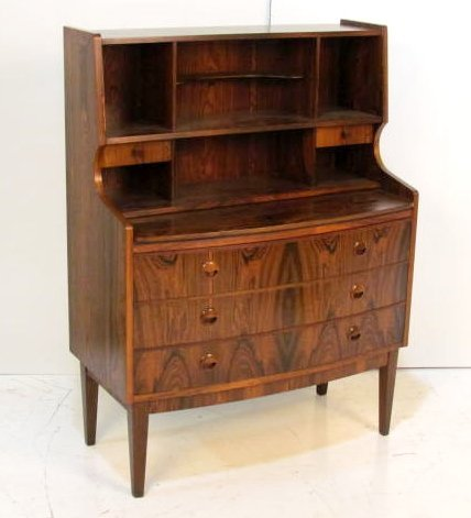 DANISH ROSEWOOD BOOKCASE DESK