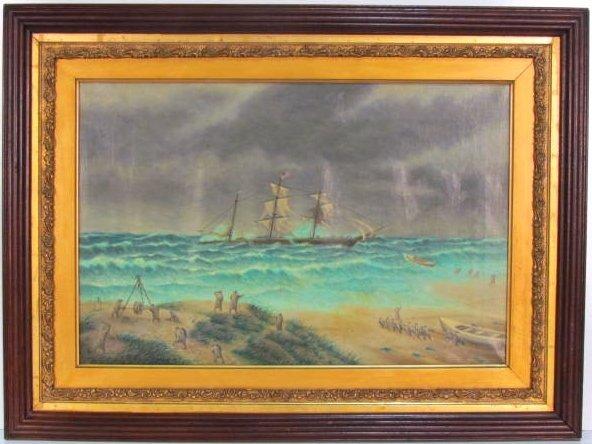 KURT URION OIL PAINTING SEA RESCUE