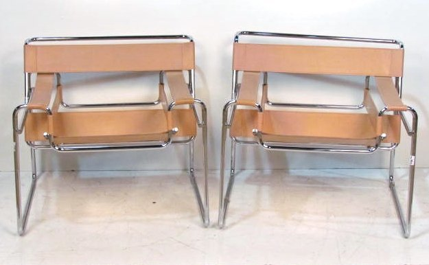 Pair WASSILY CHAIRS after MIES VAN DER ROHE