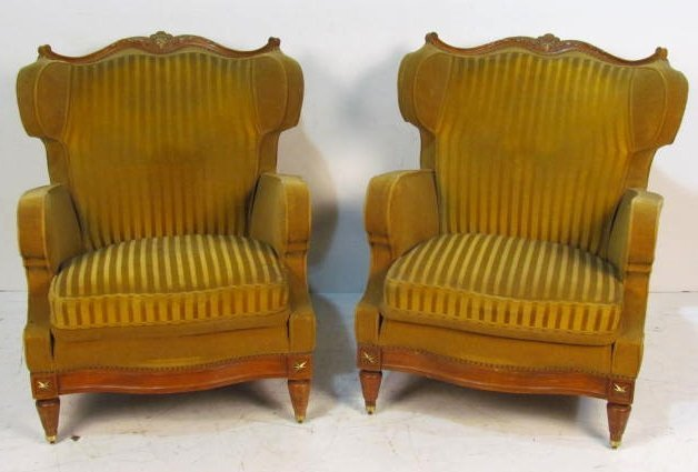Pair JANSEN FRENCH REGENCY STYLE BERGERES