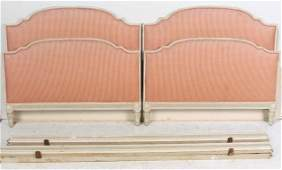 Pair ANTIQUE FRENCH LOUIS XVI STYLE PAINTED TWIN BEDS