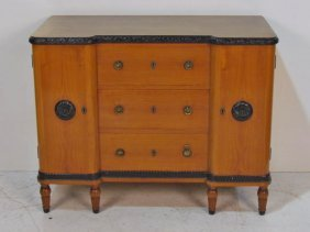 FRENCH DECORATED 3 DRAWER COMMODE