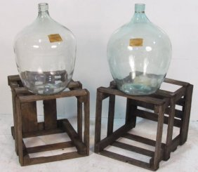 Pair CRATED VINTAGE STYLE BORDEAUX CHATEAU PALMER WINE