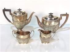 4 pc ENGLISH STERLING SILVER TEA SET