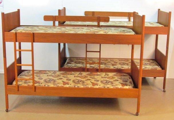 Pair WESTNOFA NORWEGIAN MODERN TEAK BUNK BEDS