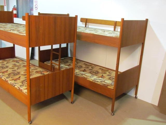 Pair WESTNOFA NORWEGIAN MODERN TEAK BUNK BEDS - 2