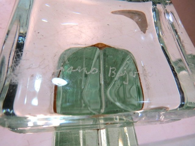 ITALIAN MODERN GLASS BLOCK ROUND PEDESTAL TABLE - 5