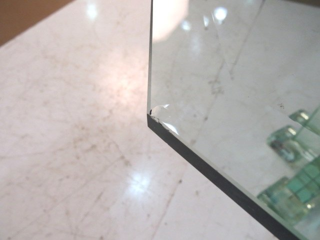 ITALIAN MODERN GLASS BLOCK ROUND PEDESTAL TABLE - 6