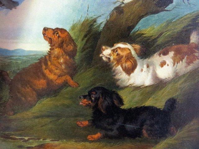 Pair PAUL JONES OIL PAINTINGS DOGS RATTING - 5