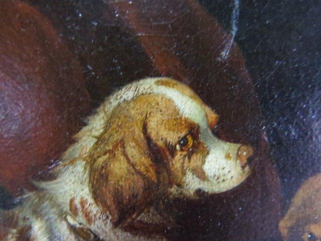 Pair PAUL JONES OIL PAINTINGS DOGS RATTING - 9