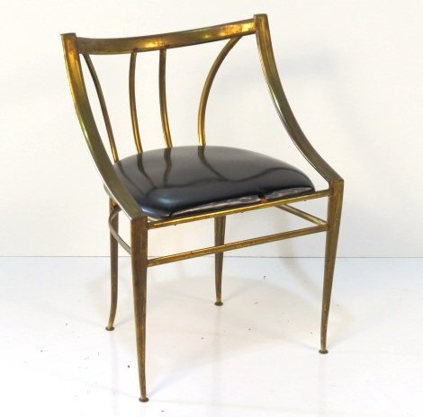 PONTI STYLE BRASS SIDE CHAIR