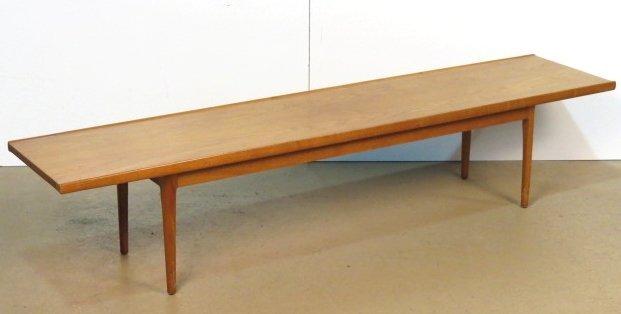 drexel mid century modern bench table