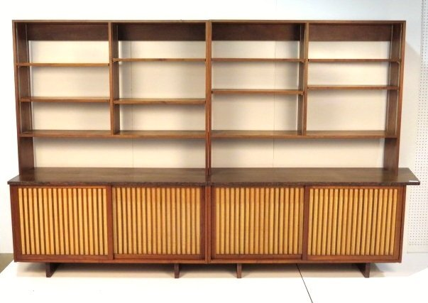 GEORGE NAKASHIMA SLIDING DOOR CABINET W/ BOOKCASE