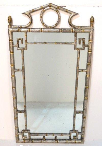 silver u0026 gold gilt faux bamboo mirror - Bamboo Mirror