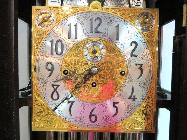 ANTIQUE HERSCHEDE MAHOGANY GRANDFATHER'S CLOCK - 2