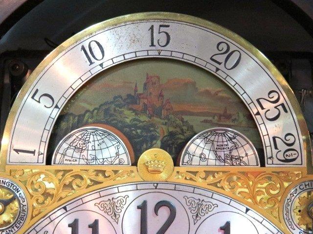 ANTIQUE HERSCHEDE MAHOGANY GRANDFATHER'S CLOCK - 3