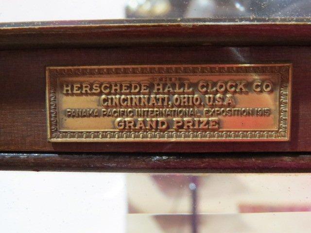 ANTIQUE HERSCHEDE MAHOGANY GRANDFATHER'S CLOCK - 8
