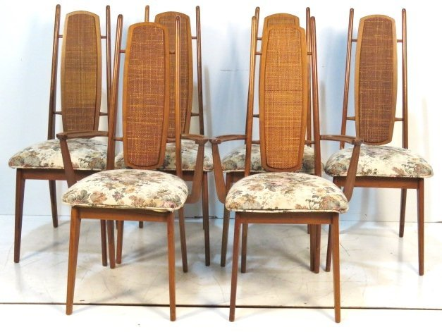 MID CENTURY MODERN CANE BACK DINING CHAIRS