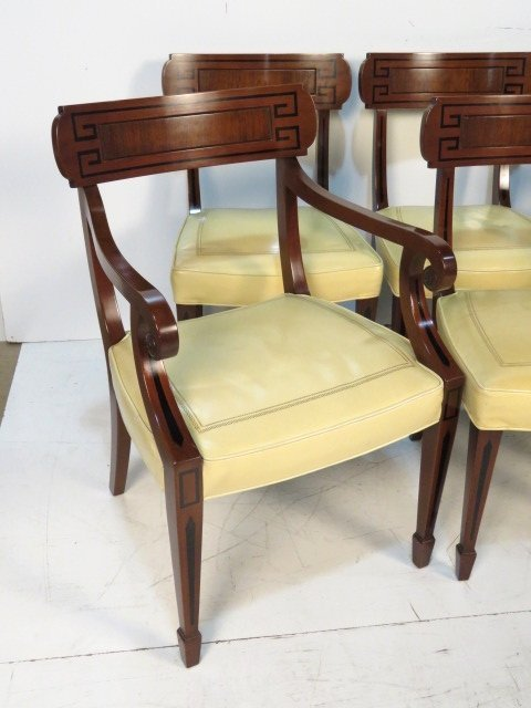 6 KITTINGER REGENCY STYLE MAHOGANY DINING CHAIRS - 2