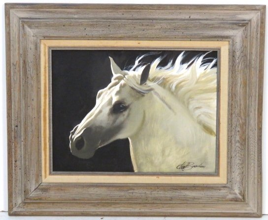 CHAD BEAUBIEN OIL PAINTING of a HORSE