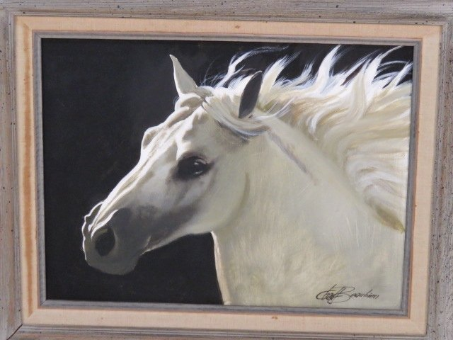 CHAD BEAUBIEN OIL PAINTING of a HORSE - 2