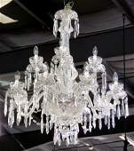"""LARGE 40"""" WATERFORD CRYSTAL CHANDELIER"""