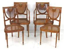 4 ADAMS STYLE PAINT DECORATED CHAIRS