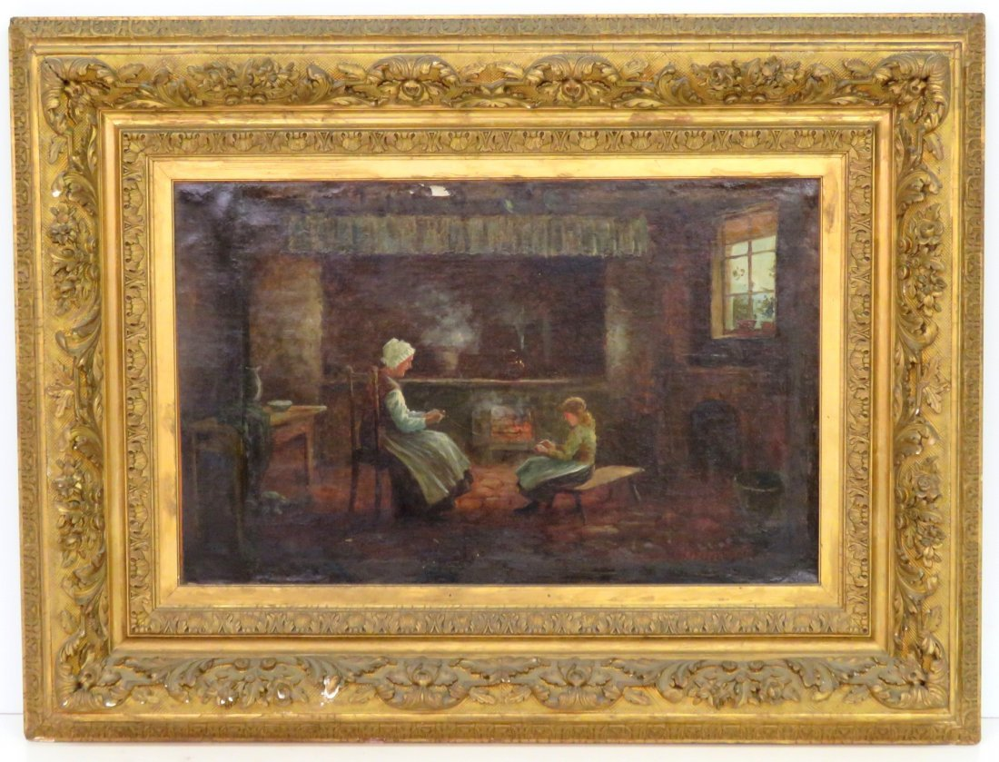 19th c. OIL PAINTING signed MARTELI