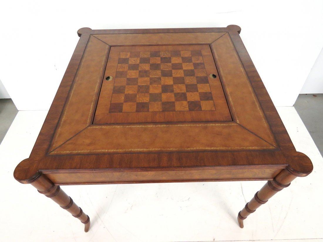 ETHAN ALLEN GAME TABLE w/ REVERSIBLE TOP - 2