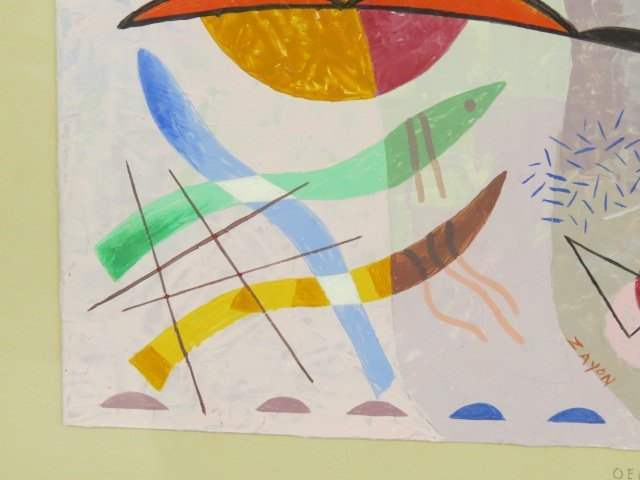 SEYMOUR ZAYON ABSTRACT PAINTING - 6