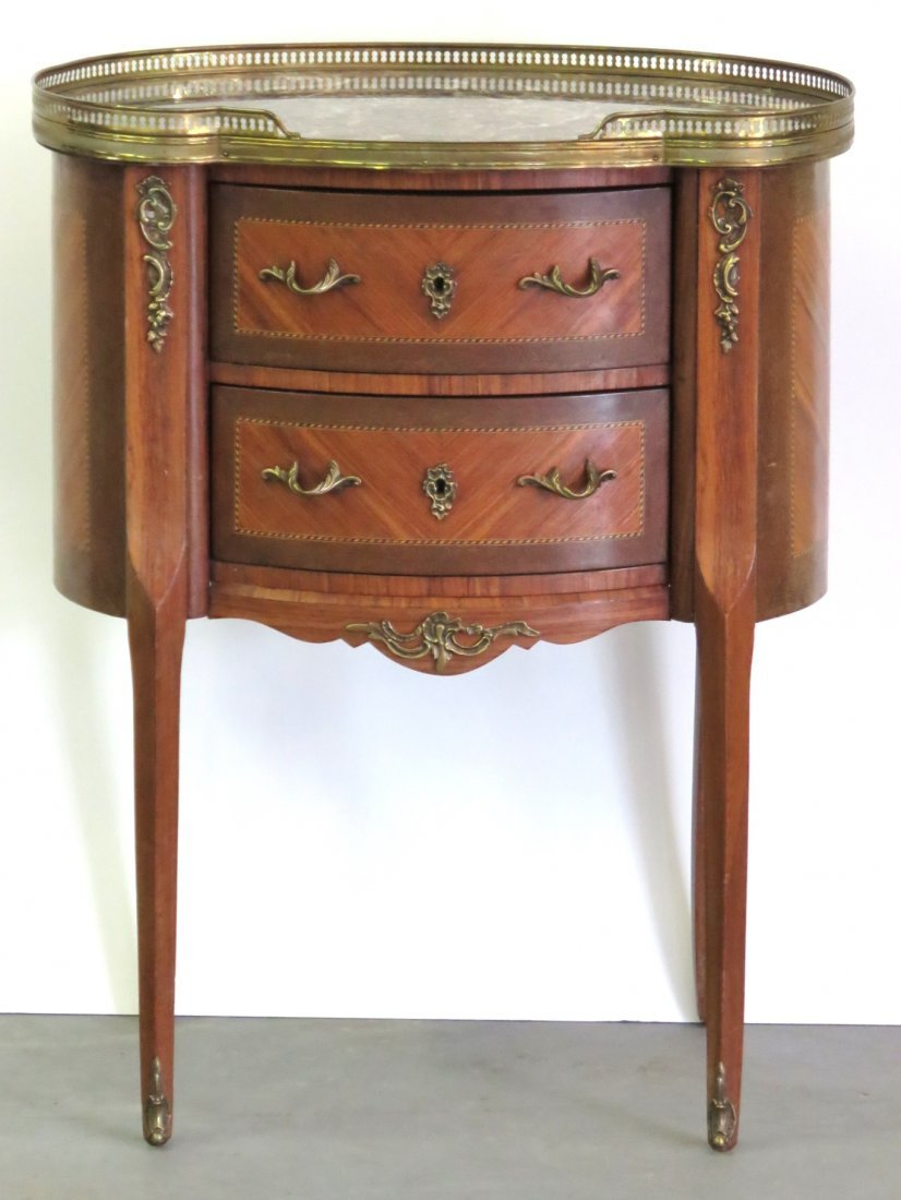 FRENCH LOUIS XV STYLE MARBLETOP STAND