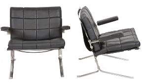 Pair OLIVIER MOURGUE JOKER LOUNGE CHAIRS